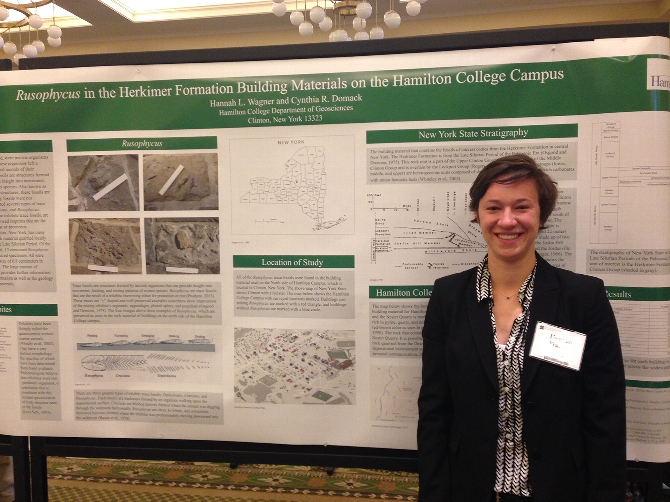 Hannah Wagner '15 Presents at GSA - Northeastern Section Annual Meeting