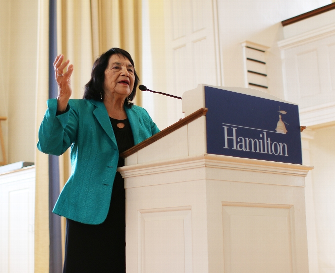 Dolores Huerta Advocates Change in Voices of Color Lecture