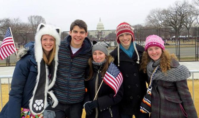 Hamilton Students Attend 57th Inauguration Ceremony