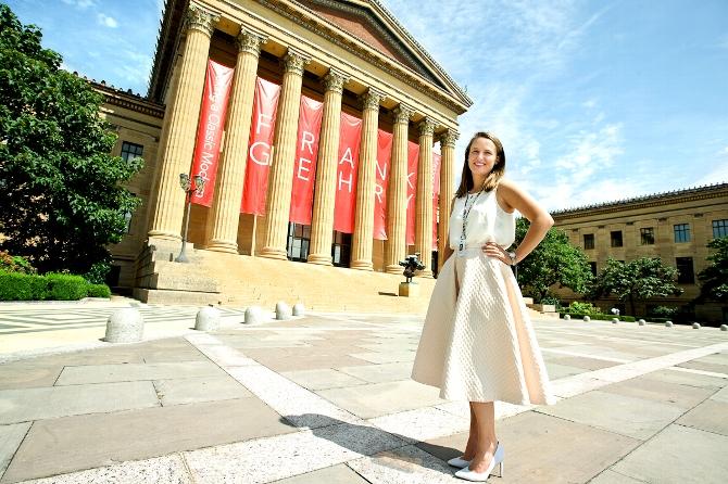 Mackenzie Leavenworth '15 is Intern at Philadelphia Museum of Art