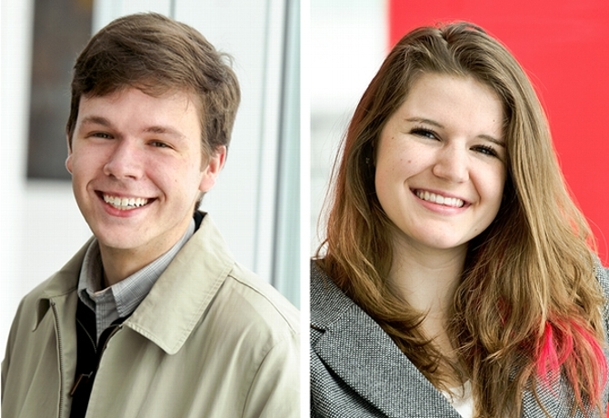 Matthew Palmer '16, Evelyn Torsher '17 Awarded Critical Language Scholarships