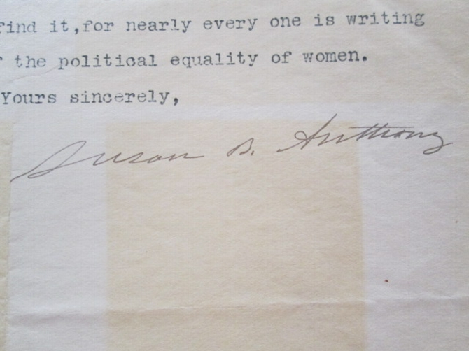 Letters of Noted Suffragist Unearthed in Archives