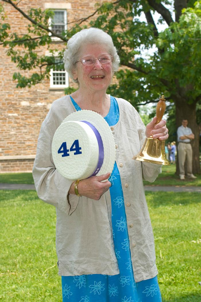In 2007, the Alumni Association recognized Patsy Couper with its highest honor, the Bell Ringer Award.