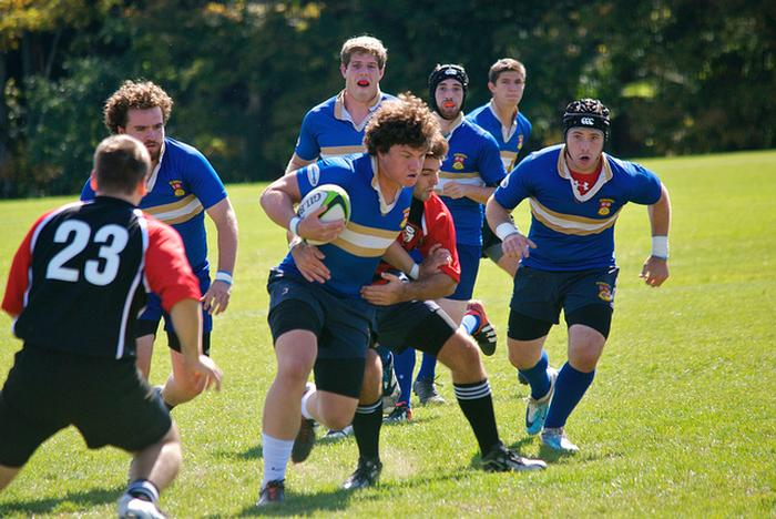 Men's rugby also competed on Saturday.