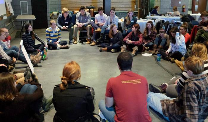 Student leaders gathered in the Events Barn to discuss issues relevant to Hamilton. PHOTO: SAM FINKELSTEIN '14