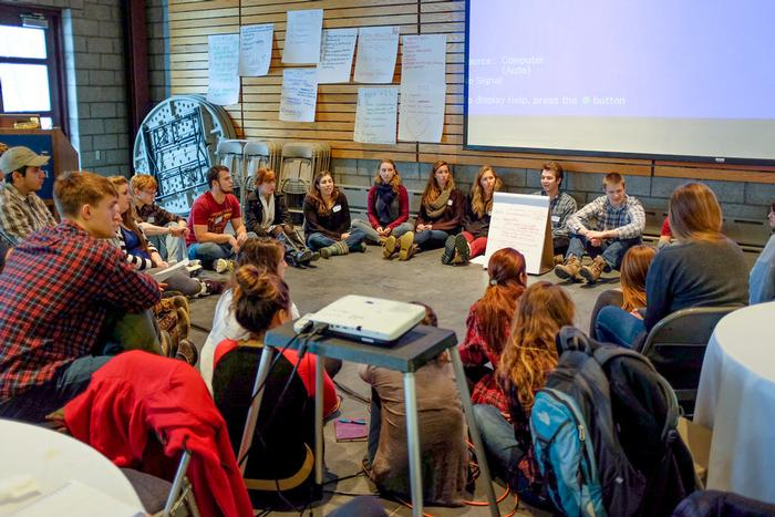 About 150 student leaders participated in the half-day conference. PHOTO: SAM FINKELSTEIN '14