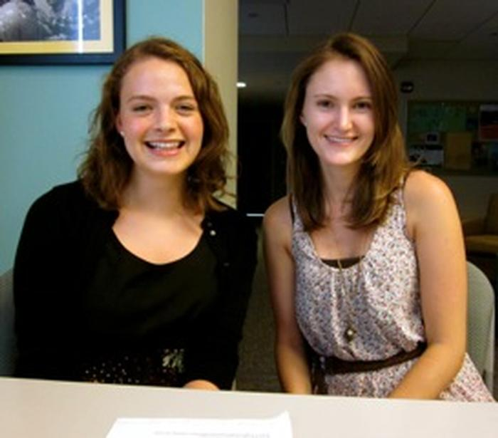 Katherine Delesalle '14 and Emily Delbridge '13