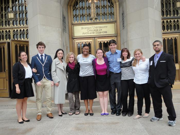 Hamilton's Model UN participants at Boston University.