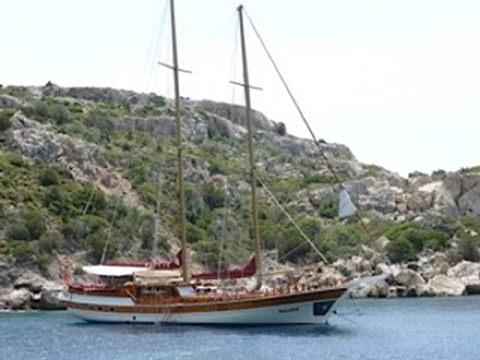 one of our two luxery gulet sailing ships on the Mediterranean Coast