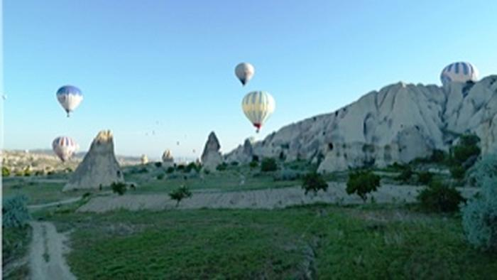morning balloon flight over Cappadocia