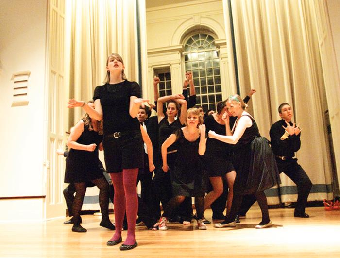 All of Hamilton's a capella groups performed in the Chapel on Friday night. PHOTO: BY NANCY FORD