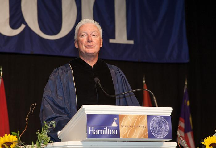 A.G. Lafley '69 addressed the graduates. PHOTO: BY VICKERS & BEECHLER PHOTOGRAPHY