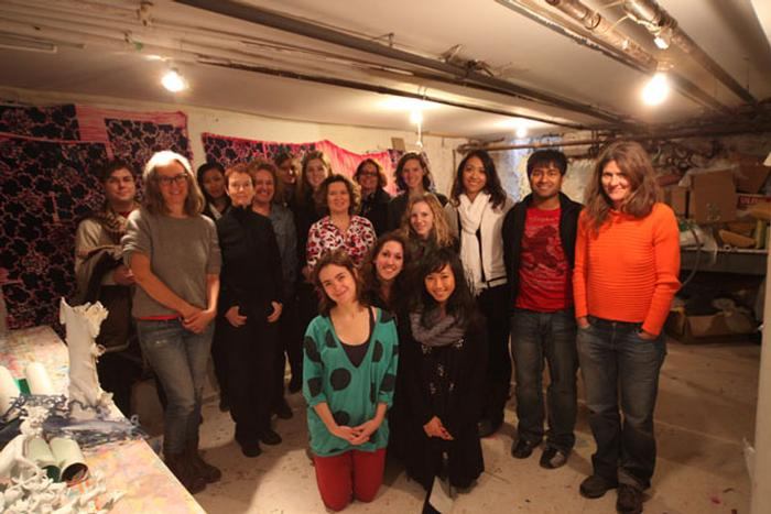 Art concentrators and faculty with Ann Agee. PHOTO: BY SUMAN SARKER '11