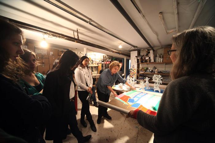 Ann Agee's studio. PHOTO: BY SUMAN SARKER '11