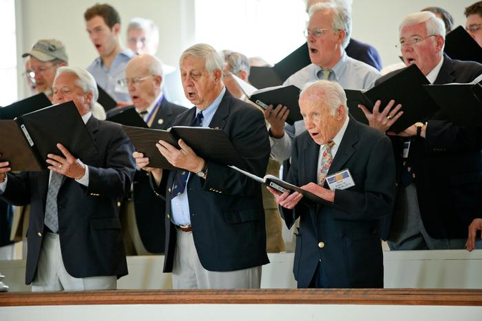 Members of the Baldwin Choir at the Service of Remembrance. PHOTO: BY NANCY FORD