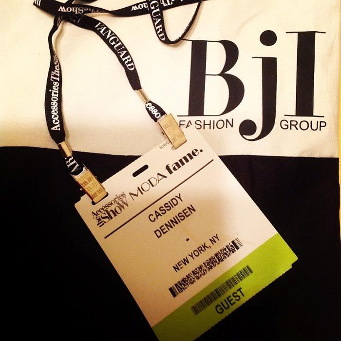 Cassidy Dennison's '16 pass to the Business Journals'  accessories show.