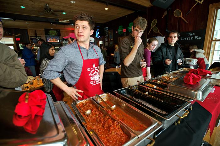 Nile Berry '14 captured the Chili Cookoff for the second year with his entry