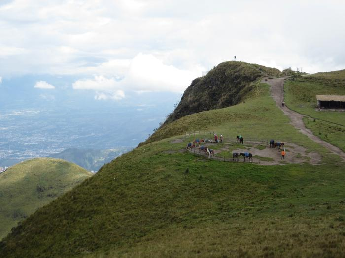A horse corral on the slopes of the volcano. PHOTO: BY DANI FORSHAY '11