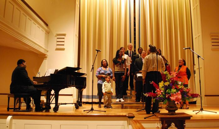 Members of the Gospel Workshop Choir.