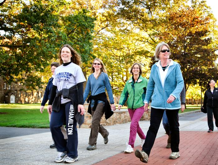 Walkers, from left, Sharon Topi, Alissa Nauman, Leslie Bell and Chris Willemsen. PHOTO: BY MEGAN HAMAN