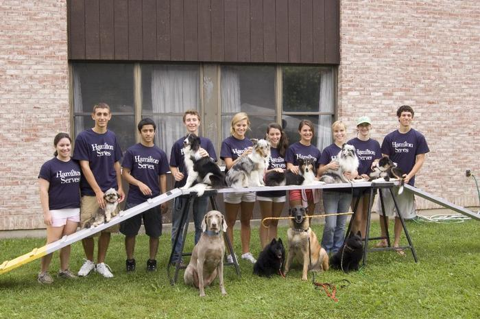 Hamilton students help with a dog show at the Presbyterian Home in New Hartford PHOTO: J.D. ROSS