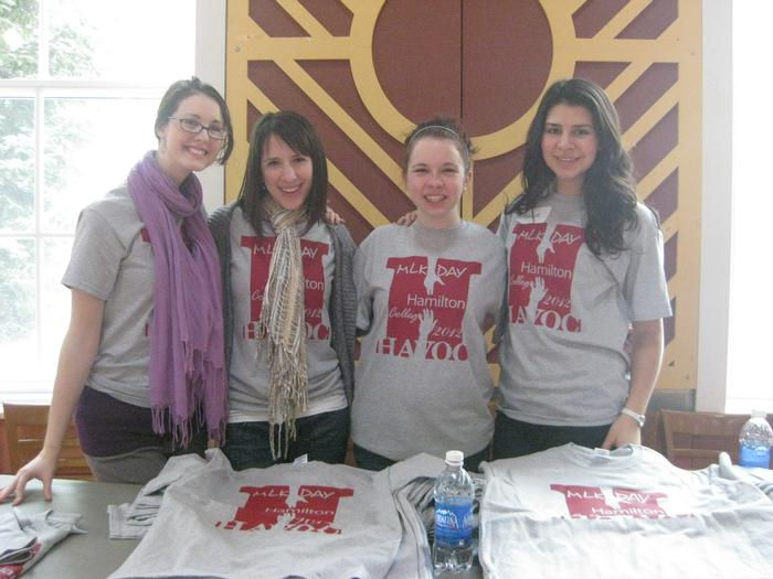 Betsy Bilharz '12, Mattie Theobald '14, Alana Christopher '14 and Elizabeth Rodriguez '15. PHOTO: EMILY ANDERSON '13