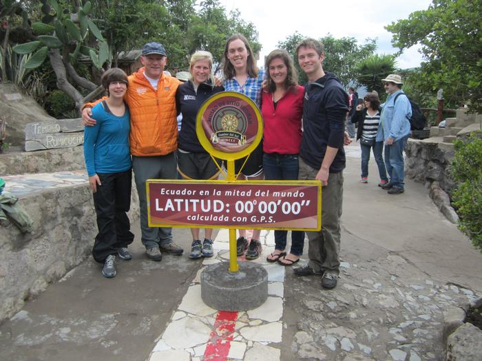 On The Equator Line At Museo del Sitio Intiñan in Quito, Ecuador.