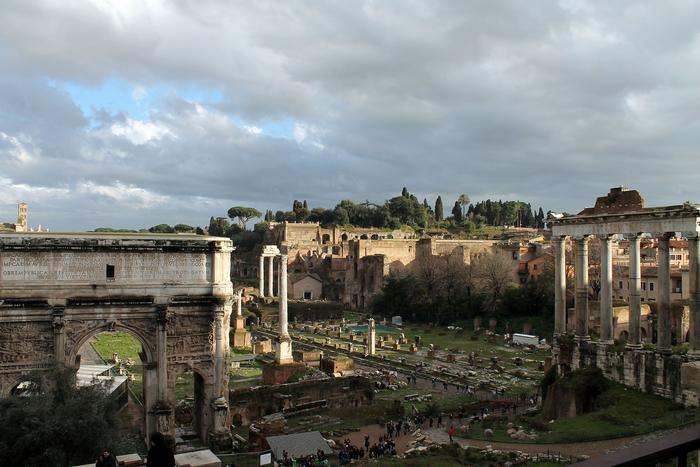 The Roman Forum, an ancient Roman marketplace PHOTO: BY ANDREA WROBEL '13