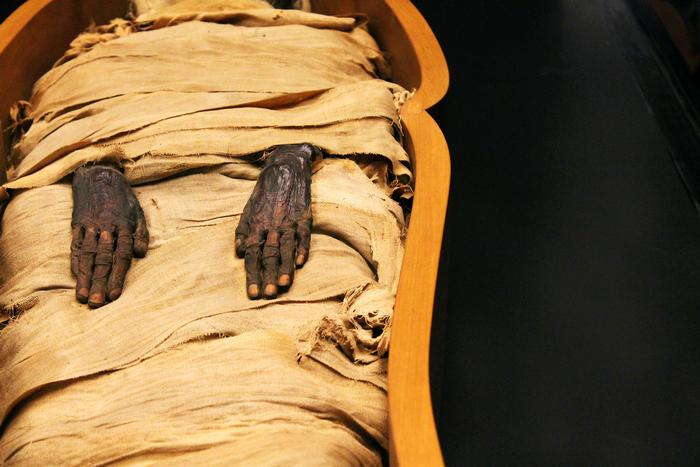 A mummy at the Vatican Museum. PHOTO: BY ANDREA WROBEL '13