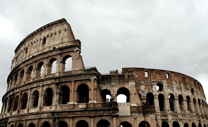 The outside of the Roman Coliseum. PHOTO: BY ANDREA WROBEL '13