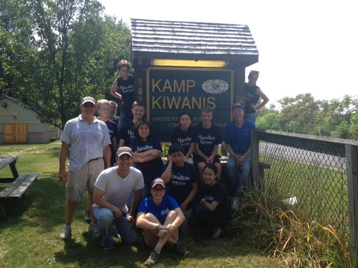 Hamilton Serves at Kamp Kiwanis.
