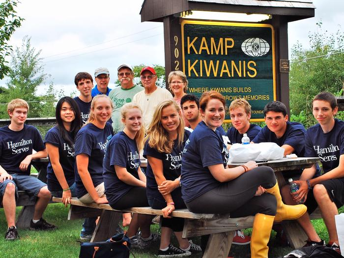A new Hamilton Serves site this year was Kamp Kiwanis in Taberg.
