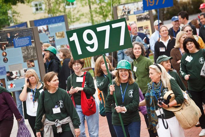 members of Kirkland's Class of 1977 proudly parade. PHOTO: BY LAURA LAUREY