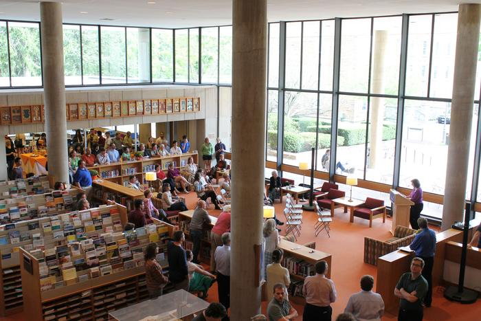 Burke Library hosted a celebration on Sept. 10 to commemorate its 40th birthday. PHOTO: BY ANDREA WROBEL '13