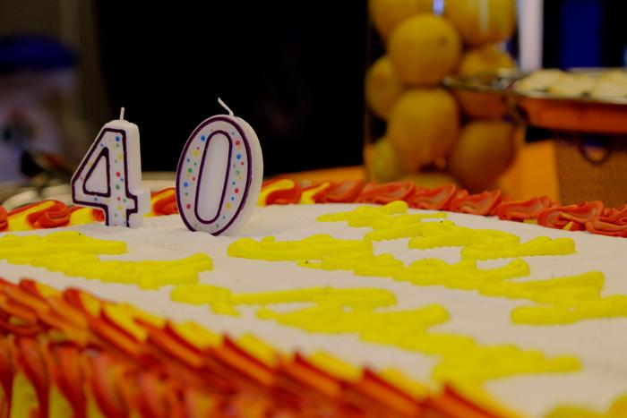 Birthday cake was served at the event. PHOTO: BY ANDREA WROBEL '13
