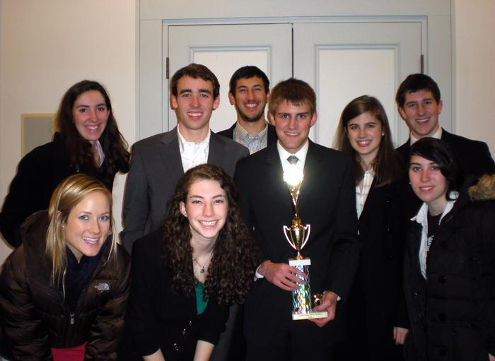 Hamilton's winning Mock Trial team that will advance to the championship series. (Missing from photo is Emily Tompsett '13)