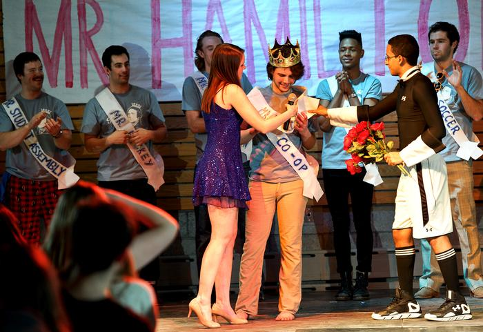 Greg Kyle Burnham '15 is crowned Mr. Hamilton. PHOTO: NANCY FORD