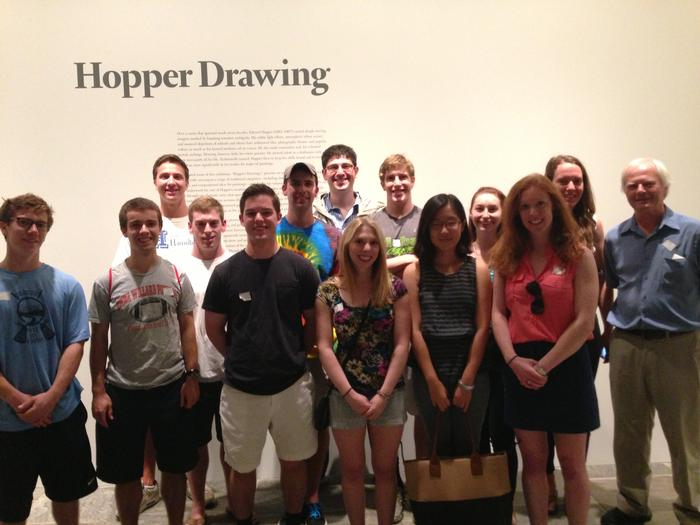 New York Program students and Professsor Derek Jones at the Whitney Museum.