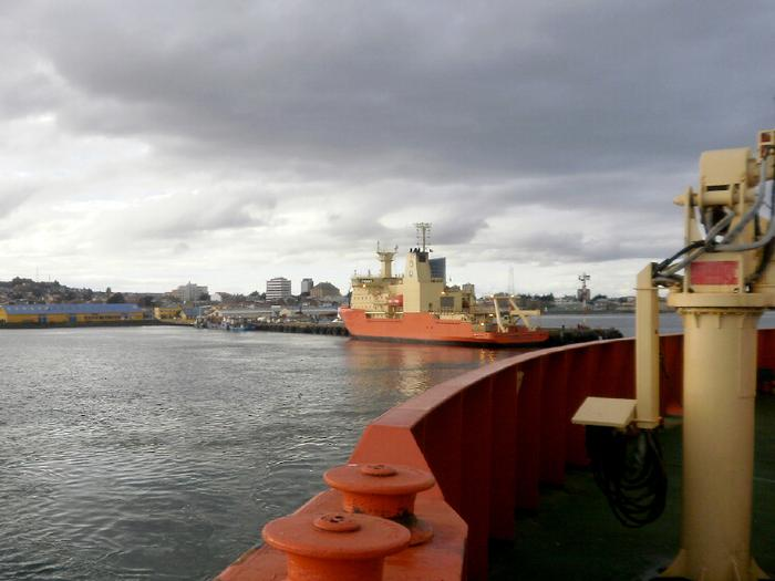 The final shot of Punta Arenas as the Laurence M. Gould pulls away from the port on October 10.