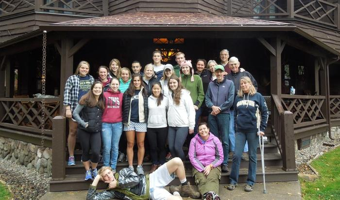 The Forever Wild Class with Professors Onno Oerlemans and Robin Kinnel at Jim Schoff's '68  Camp Wenonah.