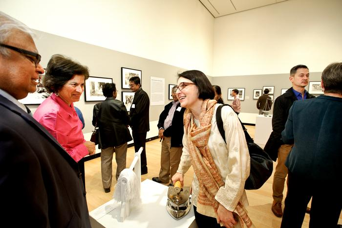 Lisa Trivedi talks with guests during the reception. PHOTO: NANCY FORD