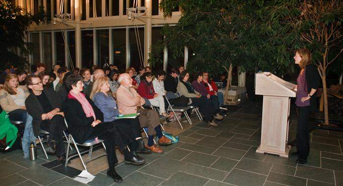 Nin Andrews '80 also read her work to a large crowd. PHOTO: BY LAURA C. LAUREY
