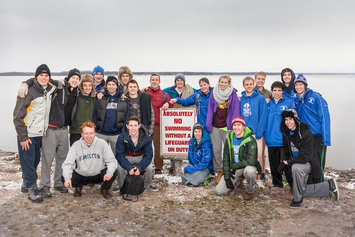 Some of Hamilton's Polar Plunge participants. PHOTO: PHIL SCALIA