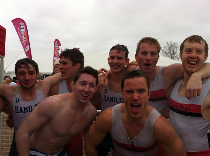 Men's crew team members, from left: from left to right it is Andrew Szatkowski, Marc Horshman, Mark Colleran, Jack Wildman, Grant Meglis, Kyle Leahy, Jared Lippman.