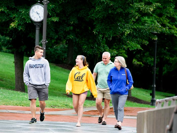 A family heads toward registration in KJ. PHOTO: REBECCA SHEETS