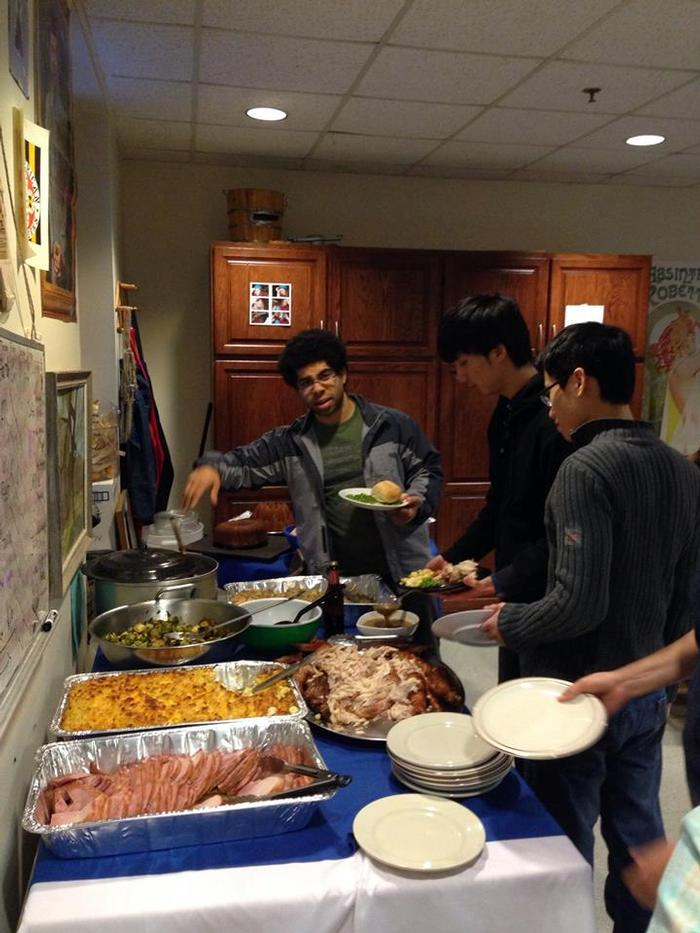 Attendees enjoyed all the traditional Thanksgiving fare.