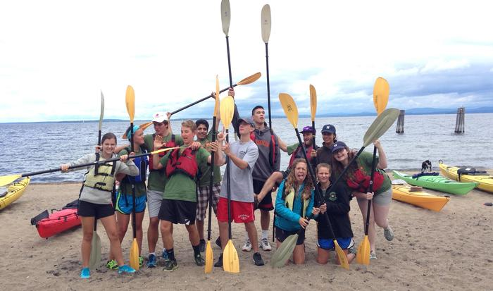 AA 2014 Lake Champlain sea kayak trip making serious preparations before getting on the water.