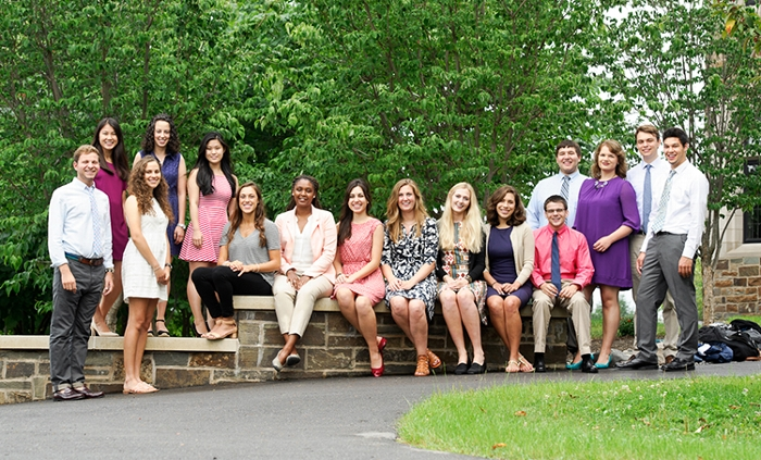 Student interns fall 2015 at Hamilton College in Clinton, NY.