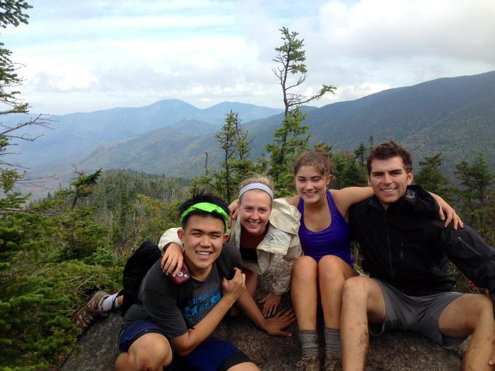 From left: Jimmy Nguyen '14, Shea Patrick '16, Victoria Madsen '16, and Chris Whiting '14. PHOTO: BY MARIAN ECKERMANN '16