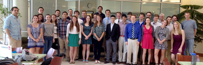 Participants in the 2014 Summer Organic Research Symposium at Colgate University.